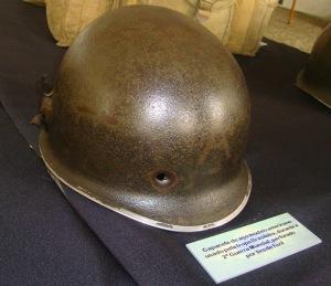 Capacete utilizado por militar da FEB durante a II GM